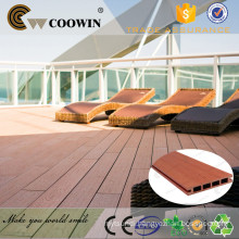 Recycled material waterproof exterior engineered composite plastic wood flooring