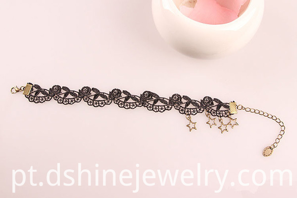 Star Charm Lace Anklet For Women