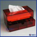 Tocador de acrílico facial del almacenaje / caja cosmética del organizador W / Tissue Dispenser