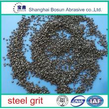 steel material steel grit gp25/sg1.0mm, g14 cast steel grit sand blasting, steel plant silicon carbide grit