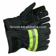 Feuer Handschuhe mit schwer entflammbar und wasserdichte ISO-Norm