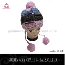 Freies Gestricktes Muster für Ohrenklappen Häkeln gestrickter Hut