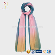 Lady Fashion Colorful Soft Wool Scarf Custom Made