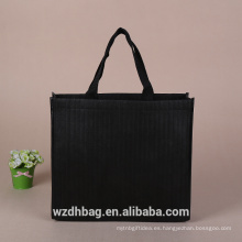 Bolso no tejido reutilizable del bolso de compras de alta calidad negro impresión del color