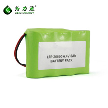 GLE wiederaufladbare 2S2P 6Ah Batterie 6.4v 26650 lifepo4 Batterie lipo