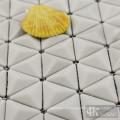 3D Beige Glas Mosaik Duschfliesen zum Verkauf
