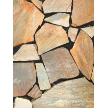 Yellow Natural Slate Paving Stone Tile