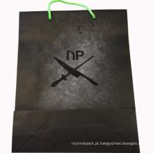 Saco de papel comercial com logotipo novo personalizado