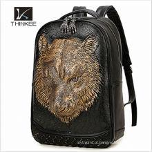 Fashion unique girls leather school soft laptop backpack women bags