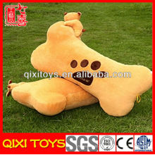 Moda design osso travesseiro decorativo com urso
