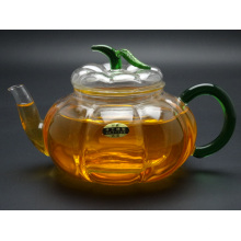 Purely Handwork 600ml Flower& Coffee Glass Tea Pot, Large Glass Teapots, Heat Resistant Glass Tea Pots with Infuser