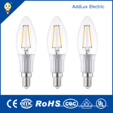 Clear Cover 3W E27 Cool White LED Filament Candle Bulb
