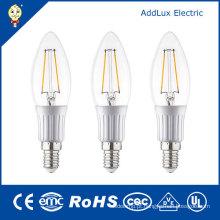 Bulbo claro fresco da vela do filamento do diodo emissor de luz do branco da tampa 3W E27