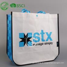 Eco reutilizável personalizado pp laminado saco não tecido