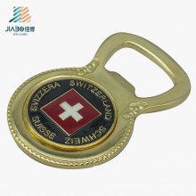 Abridor de garrafa feito sob encomenda da lembrança da moeda de ouro da fonte de China para o presente relativo à promoção