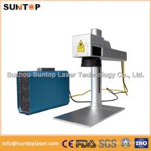 Máquina de marcação a laser de fibra de marcação preta / Equipamento de gravação a laser de metal