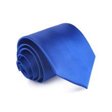 Cravate 100% soie tissée à la main jacquard bleu royal