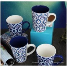 Regalos al por mayor personalidad creativa Copa de cerámica, pintados a mano patrón decorativo