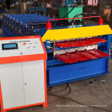 Rolo frio galvanizado do painel da plataforma dobro que forma a máquina da construção do arco de aço da máquina
