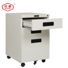 Huadu group office metal 3 drawer recessed handle file cabinet