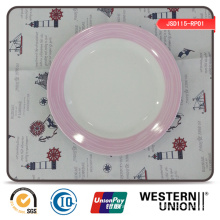 Exquisite Decal Round Porcelain Dinner Plate