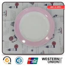 Exquisite Aufkleber Runde Porzellan Teller