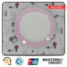 Placa de cena exquisita de la porcelana de la etiqueta