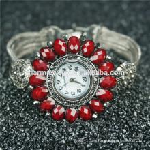 Última moda diseño de cuarzo hermosa aleación reloj de pulsera B004