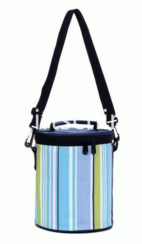 Promotional Custom Barrel Sport Cooler Bags - Stripe Colors