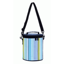 Promotional Custom Barrel Striped Cooler Bags