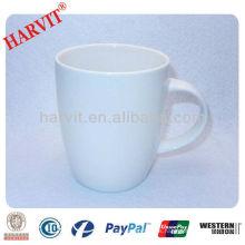 Taza de consumición de cerámica común blanca 9oz