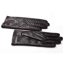 Herrenmode Reißverschluss Leder Motorrad Fahren Handschuhe (YKY5184-1)