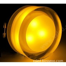 yellow 6w led downlight with acrylic square face with CE and RoHS