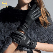 Popular Glove With Genuine leather For lady