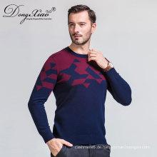 Großhandel Cashmere O-Neck Knit Männer Pullover 2017 aus der Inneren Mongolei, Herren Pullover Design