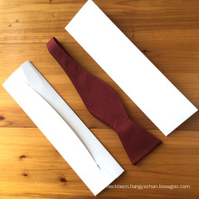 White Cardboard Envelope Gift Bow Tie Storage Box