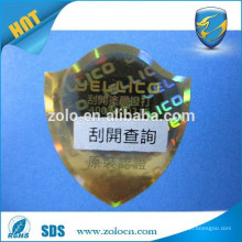 ZO LO top selling brand protection scratch off sticker, make epoxy resin sticker