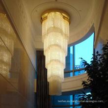 Vestíbulo del hotel techo de cristal led lámpara colgante de luz