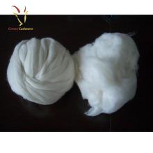 Fibra de lã de caxemira cru marrom branca