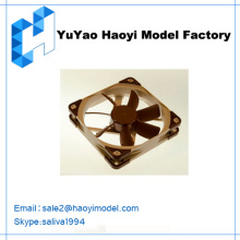 Desenho de desenho personalizado de fã fazendo protótipo para ventilador de refrigeração modelo de ventilador de plástico protótipo