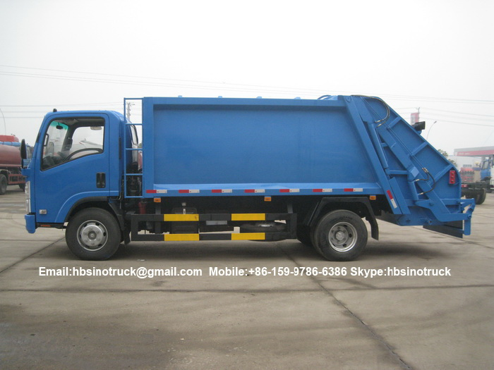 waste collector truck side view