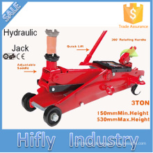 HF-T83006F 3 Tonnen Hohe Qualität Manuelle Hydraulische Jack SUV Schnellaufzug Trolley Jack (CE GS RoHS Zertifikat)
