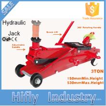 HF-T83006F 3 Toneladas de Alta Qualidade Manual Jack Hidráulico SUV Jack Trolley Elevador Rápido (CE GS RoHS Certificado)