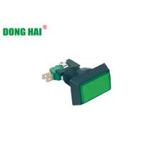 Rechteckige grüne Druckknopfschalterlampe
