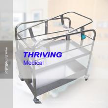 Aço Inoxidável Hospital Berço reclinável Baby (THR-RBS1)