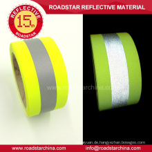 Fluoreszierende gelbe T/C Warnung Reflexfolie sichern