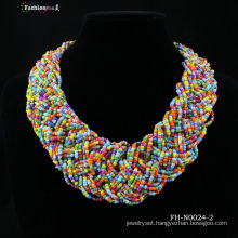 Fashionme handmade glass beaded necklace