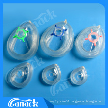 Disposable Medical Consumables PVC Anesthesia Mask with Check Valve