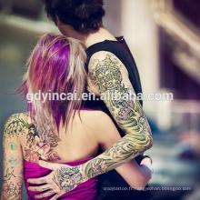 Autocollant adapté aux besoins du client de tatouage de bras de 2017 avec la haute qualité, le sexe et les manches de tatouage de style frais