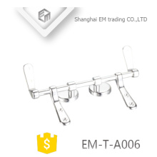 EM-T-A006 Verchromt Polieren Soft-Close Edelstahl-WC-Sitz Scharniere Sanitärartikel